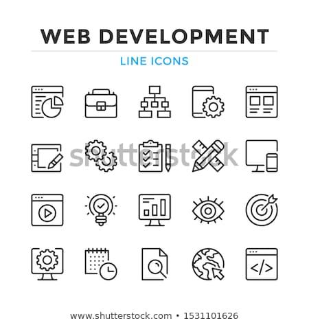 Web Internet Vector Icon Design Set Stock photo © rizwanali3d