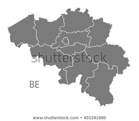 Térkép Belgium zöld utazás vektor Stock fotó © rbiedermann