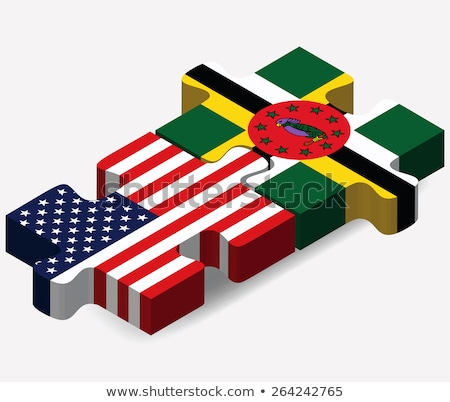 USA and Commonwealth of Dominica Flags in puzzle  Stock photo © Istanbul2009