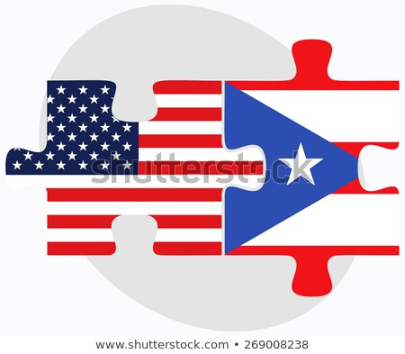 usa and puerto rico flags in puzzle stock photo © istanbul2009
