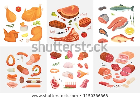 meat loafs from salmon Stock photo © fanfo
