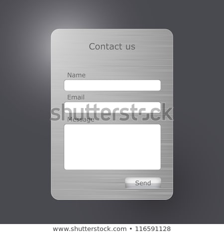 Metal Contact Text Stock photo © bosphorus