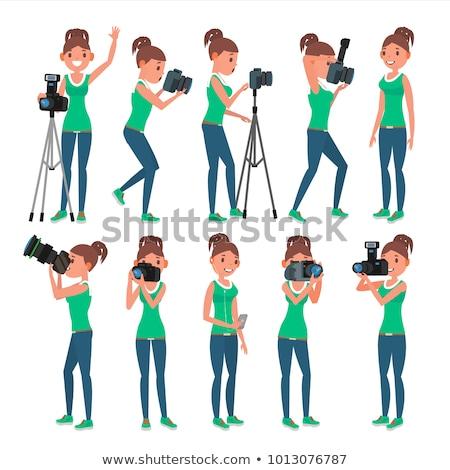 girl posing for a potographer Stock photo © Giulio_Fornasar