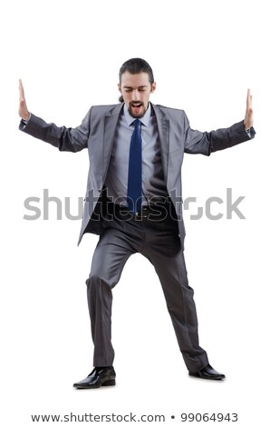 бизнесмен костюм усилие белый человека Сток-фото © wavebreak_media