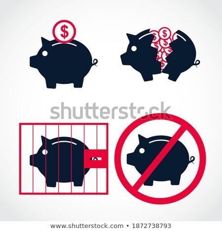 financière · bancaires · rose · vecteur · bouton · icône - photo stock © rizwanali3d
