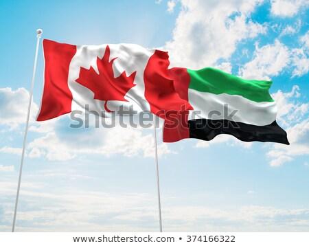 Canadá Emirados Árabes Unidos bandeiras quebra-cabeça isolado branco Foto stock © Istanbul2009