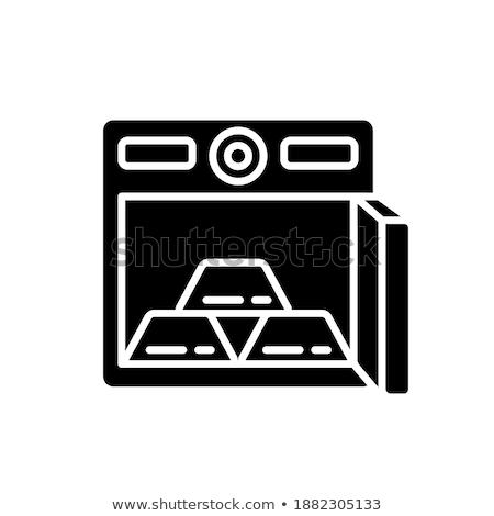 Gewelf gouden vector icon ontwerp zwarte Stockfoto © rizwanali3d