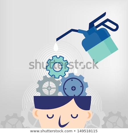 blue oil can Stock photo © shutswis