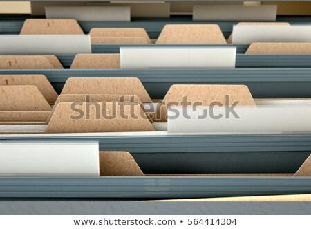 taxes concept on file label stock photo © tashatuvango