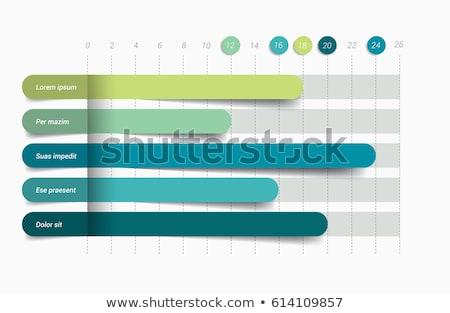 set · vettore · design · statistiche · classifiche · grafici - foto d'archivio © orson