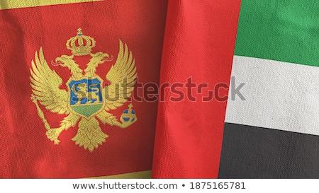 Birleşik Arap Emirlikleri Karadağ bayraklar bilmece yalıtılmış beyaz Stok fotoğraf © Istanbul2009