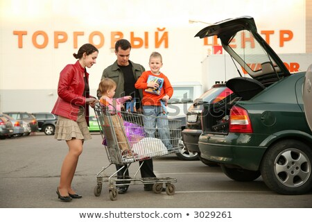 family on shop parking 3 stock photo © Paha_L