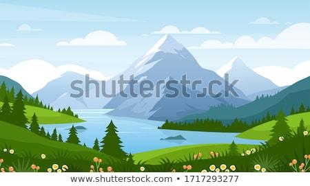 林間の空き地 · 開花 · 山 · 風景 · 美しい · ピンク - ストックフォト © kotenko