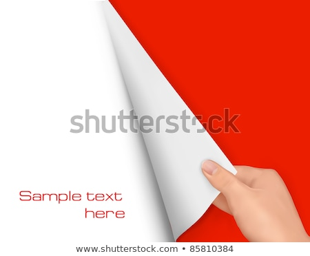 Man flipping pages of blank notebook Stock photo © stevanovicigor
