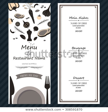 ternera · corte · servido · placa · cuchillo · tenedor - foto stock © gigra