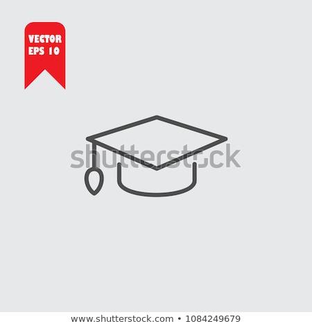 öğrenci · mezuniyet · kapak · mavi · ikon · dizayn - stok fotoğraf © rastudio