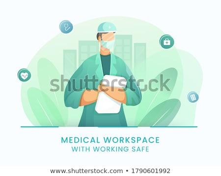 Doctor holding file. Stock photo © RAStudio