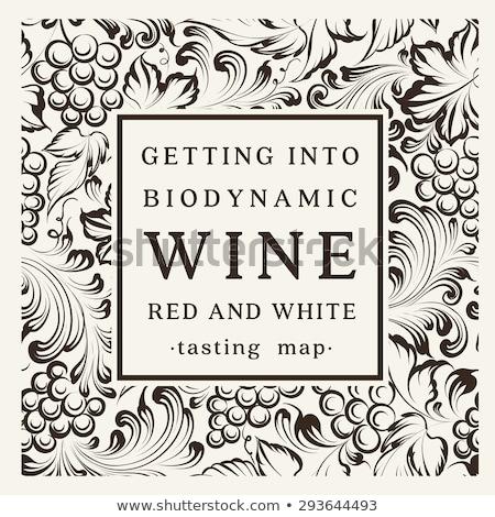 Français vin étiquette Photo stock © mathbapti