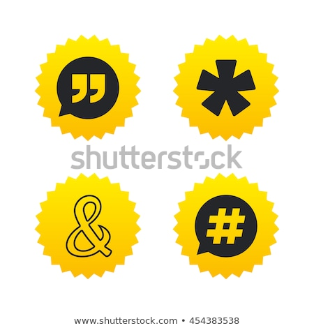 Asterisk Footnote sign icon Stock photo © kiddaikiddee