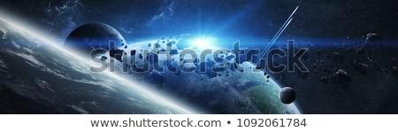 3D űr fogyatkozás Föld elemek kép Stock fotó © kjpargeter