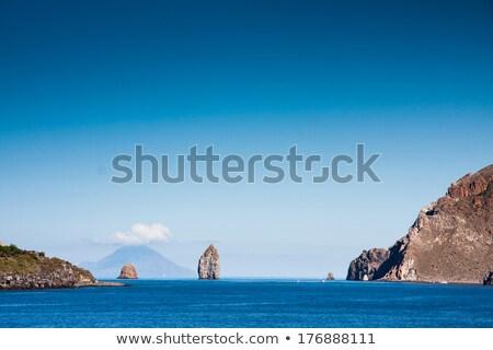 Uitbarsting vulkaan eilanden Italië hemel Stockfoto © meinzahn