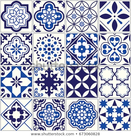 Ceramic Moroccan mosaic tile pattern with flower Stock photo © cienpies
