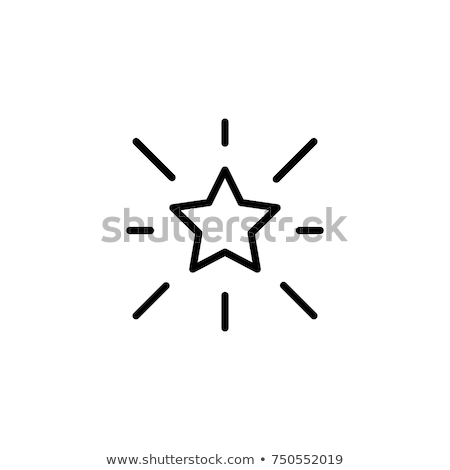 Stock photo: Rating star line icon.