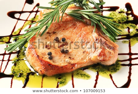 serpenyő · pörkölt · disznóhús · medál · étel · hús - stock fotó © digifoodstock
