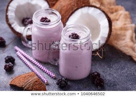 ココナッツミルク スムージー ガラス 白 ストックフォト © Digifoodstock