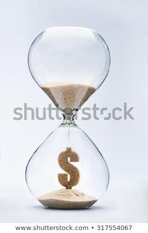 Dollarzeichen Sand Ansicht Geld Finanzierung Stock foto © Digifoodstock