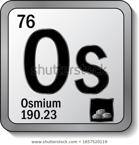 A button with the chemical Osmium Stock photo © bluering