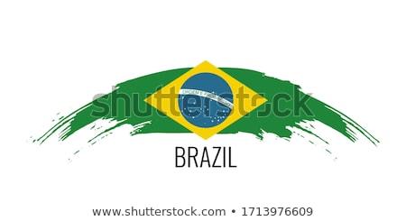 рук флаг Бразилия молодым человеком вместе Сток-фото © nito