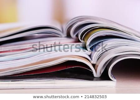 New magazines pile Stock photo © simply