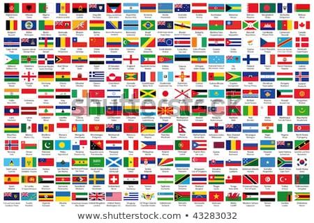 świat flagi podróży banderą Afryki Zdjęcia stock © Panaceadoll