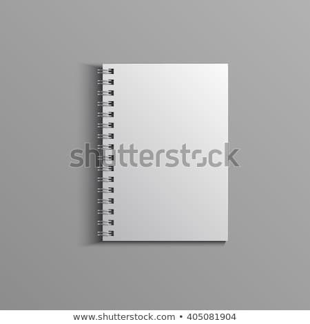 gerçekçi · notepad · defter · yalıtılmış · beyaz · vektör - stok fotoğraf © beholdereye