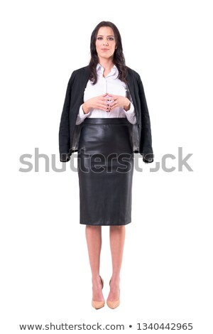 Steepled fingers of business woman as hand gesture confident sig Stock photo © stevanovicigor