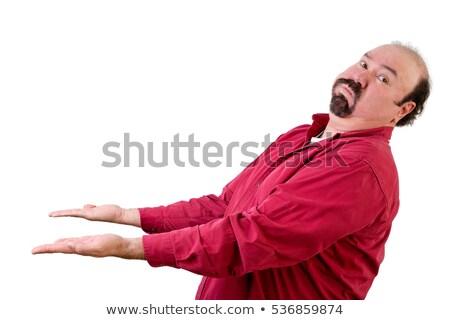 Man with upturned hands looking over shoulder Stock photo © ozgur