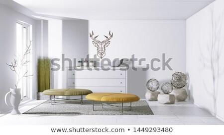 Deer head decorative in home interior Stock photo © nalinratphi
