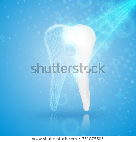 Sparkling Dentistry background with tooth Stock photo © Tefi
