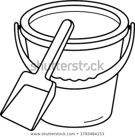 ржавые · лопатой · стране · куча · строительство · саду - Сток-фото © rufous