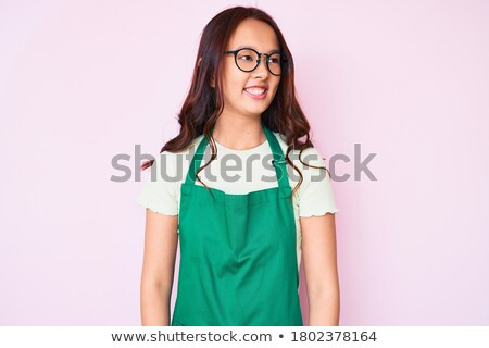 young asian cleaner laughing stock photo © rastudio