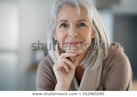 beautiful elderly woman portrait stock photo © kurhan