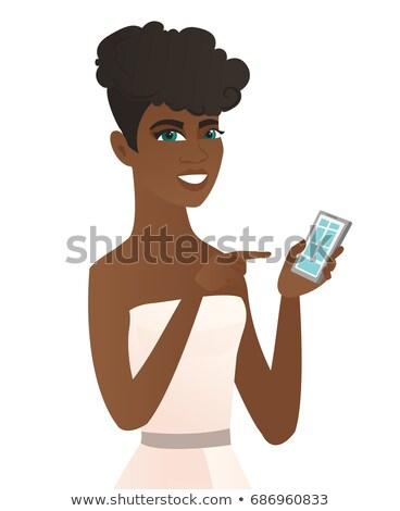 celular · menina · telefone · móvel · amigos · rede - foto stock © rastudio