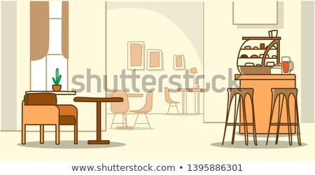 Bakery shop with dining tables Stock photo © bluering