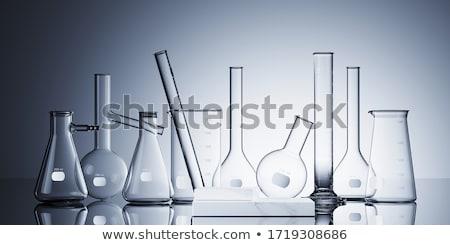 White glass test tubes. 3D rendering Stock photo © user_11870380