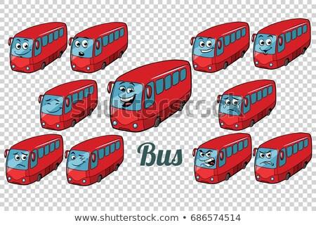 Otobüs toplama ayarlamak nötr karikatür Stok fotoğraf © rogistok