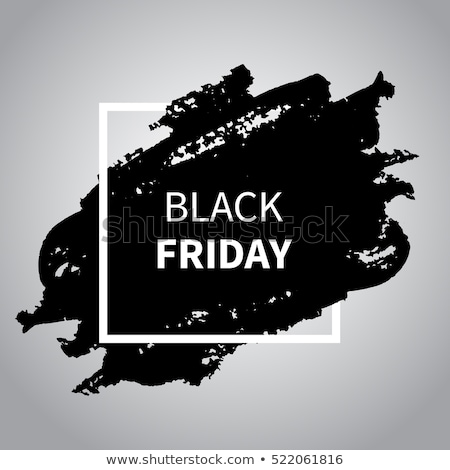Black Friday Banner With Black Blobs Stock photo © adamson