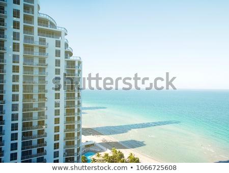 glass skyscrapersbusiness center bright colorful tone concept stock photo © janpietruszka