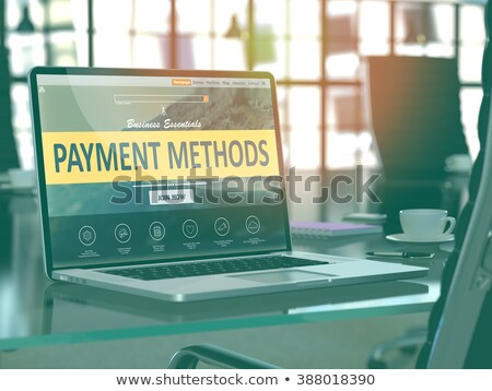 Landing Page of Laptop with Payment Methods Concept. 3D. Stock photo © tashatuvango