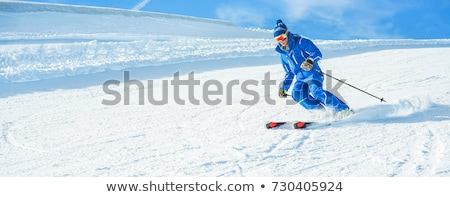 Skier head down in snow Stock photo © IS2